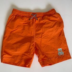 Pyscho Bunny Boys Orange Swim Trunk Short sz 10-12